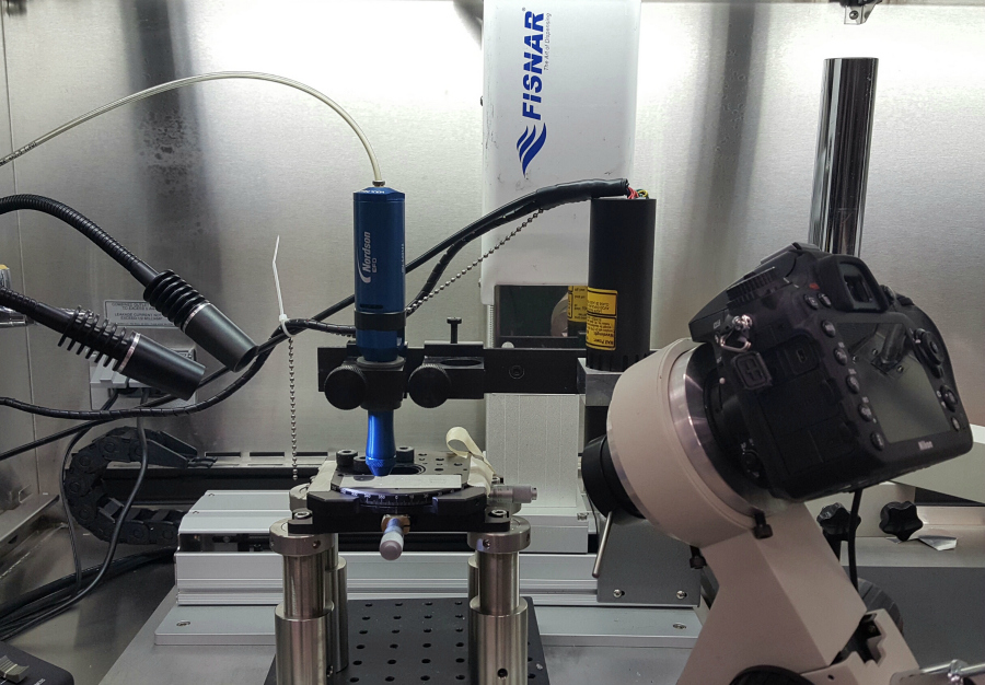 Custom-Built Pneumatic Soft-Material Extrusion Bioprinter with Laser Assistance